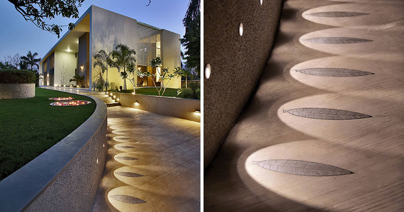 Landscaping Design Idea - Have Lights Highlight A Design Element On A Path