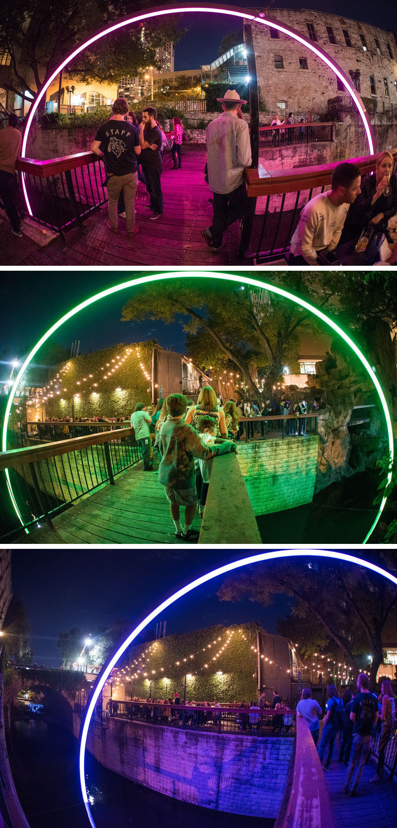 "East Side Collective together with Drophouse Design have designed ""Deep Curiosity, a light art sculpture created as a temporary installation in Texas."
