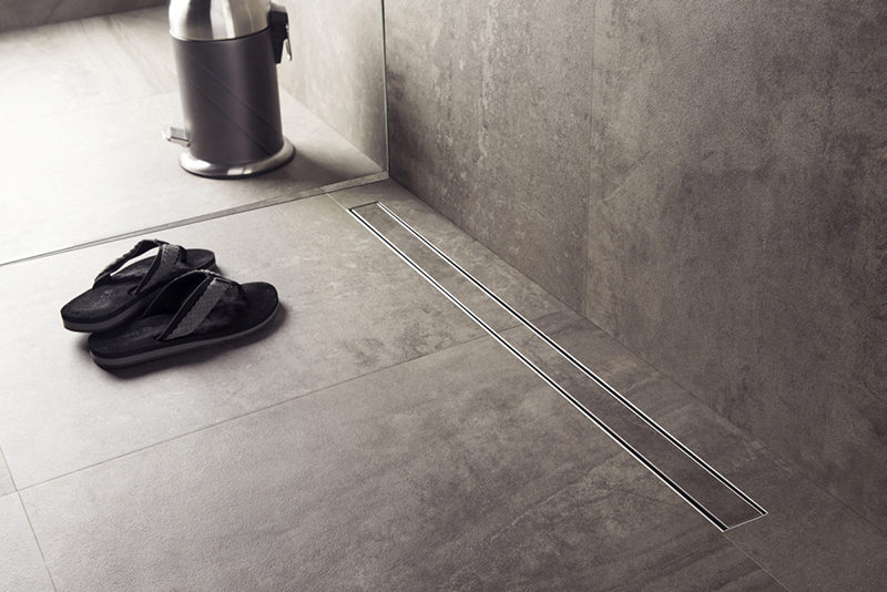Bathroom Design Idea Include A Linear Shower Drain