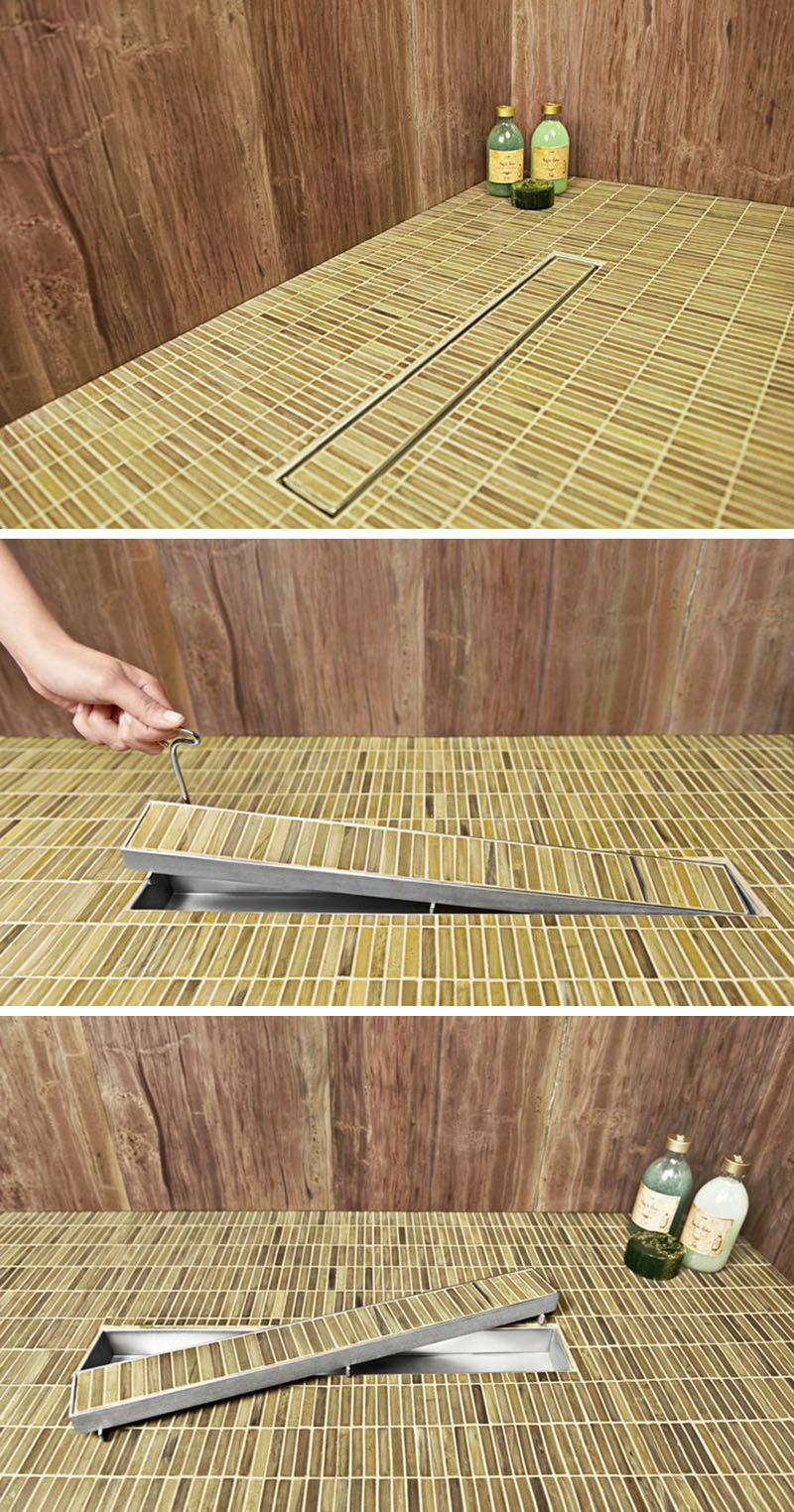 Another Benefit Of Linear Drains Is The Ease Of Which They Can Be Cleaned.  Traditional Shower Drains Can Be A Pain To Clean, However With Linear Drains,  ...