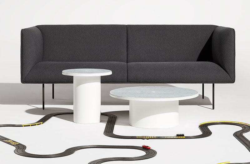 Interior Design Idea - 7 Ways To Bring A Touch Of Marble To Your Living Room // Marble Coffee Table