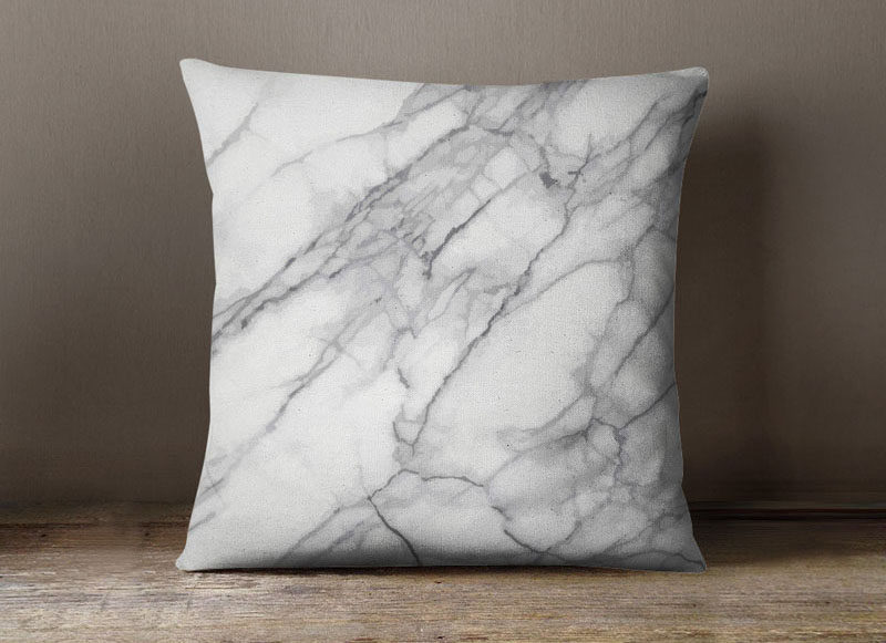 Interior Design Idea - 7 Ways To Bring A Touch Of Marble To Your Living Room // Marble Throw Pillow