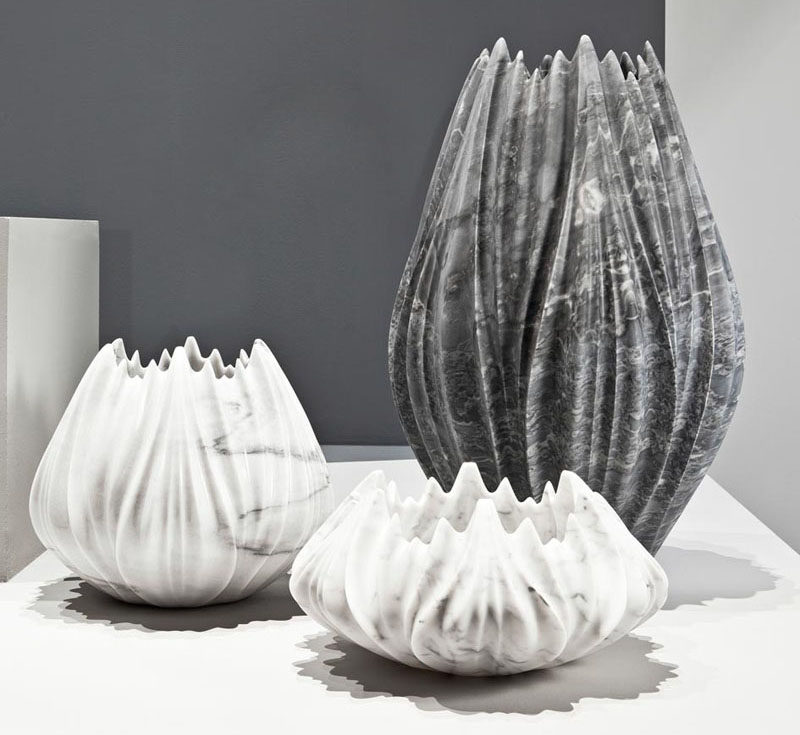 Interior Design Idea - 7 Ways To Bring A Touch Of Marble To Your Living Room // Marble Vase