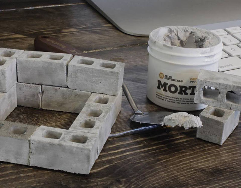 40 Awesome Gift Ideas For Architects And Interior Designers // Mini cinder blocks