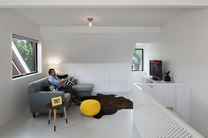 On the top level of this home is a relaxing space for the home owners.