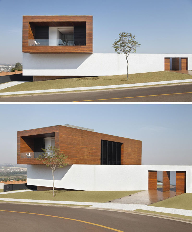 Modern Box House Design: This House Appears To Be A Stack Of Blocks Piled On Top Of