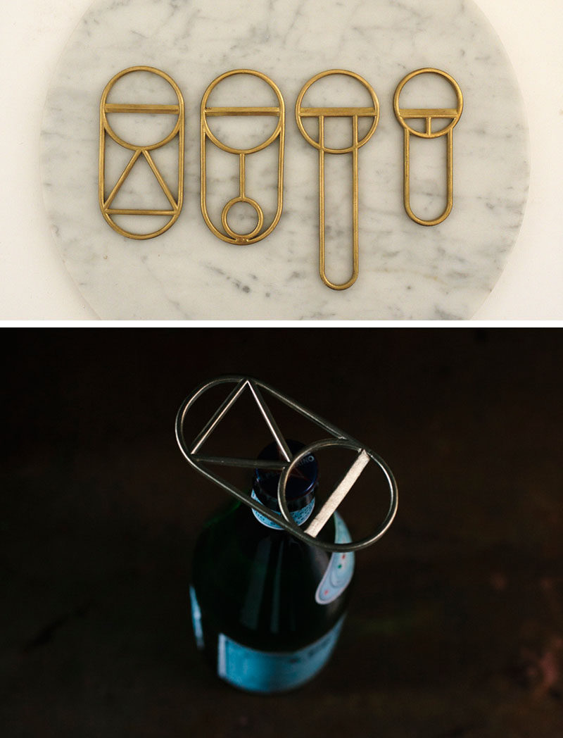 Essential Kitchen Tools - 10 Unique Beer Bottle Openers // These creative bottle openers could be hung on your wall to create functional art or stored in your drawer to make a stylish statement when they're pulled out to be used.