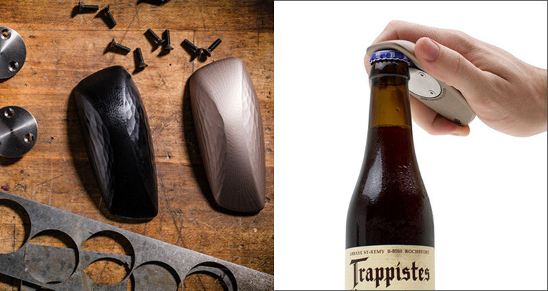 Essential Kitchen Tools - 10 Unique Beer Bottle Openers // Inspired by the most comfortable bar of soap ever handled, this bottle opener has an original shape and form that makes it both art and an essential home bar tool.