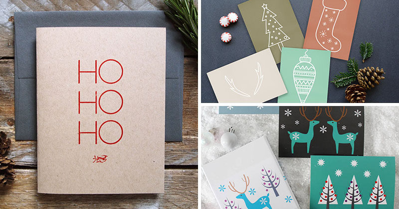 'Tis the season to be sending notes to loved ones around the world, and we've compiled a list of 14 modern Christmas cards to help you keep it classy. #ChristmasCards #HolidayCards #ModernCards