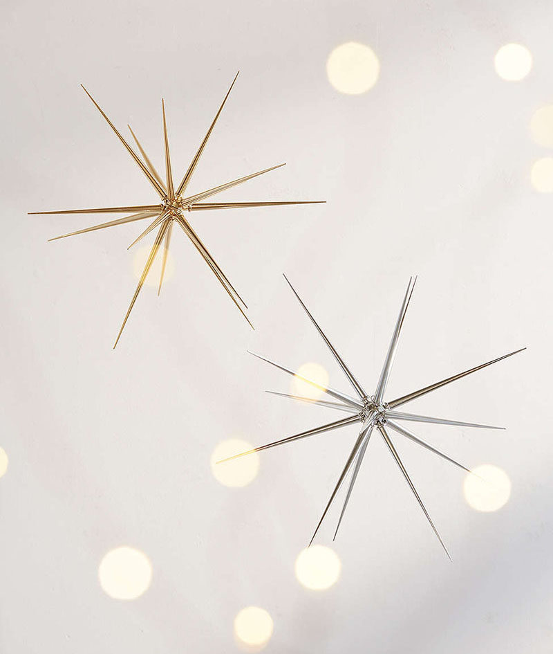 30 modern christmas decor ideas for your home hang a few of these silver - Modern Christmas