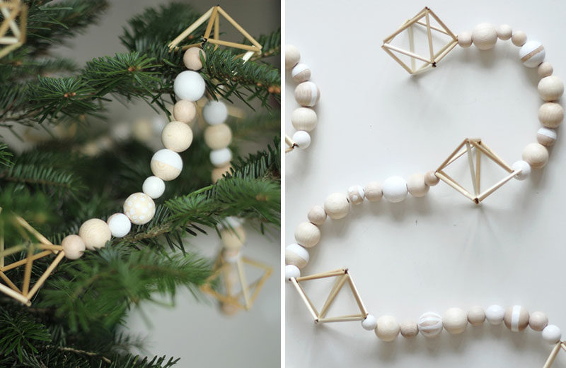 30 modern christmas decor ideas for your home wooden beads and himmelis on this - Contemporary Christmas Decorations