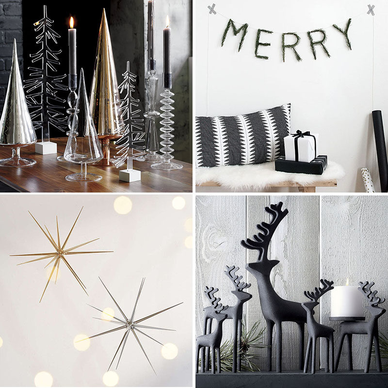 30 modern christmas decor ideas for your home - Modern Christmas Decorating Ideas