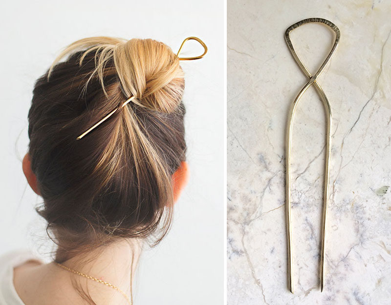 The Ultimate Gift Guide For The Modern Woman (40 Ideas!) // A large hair pin is great girls with lots of hair. It keeps it out of their way and lets them experiment with a new way of doing their hair. #ModernHairPin #HairAccessories #GiftIdea