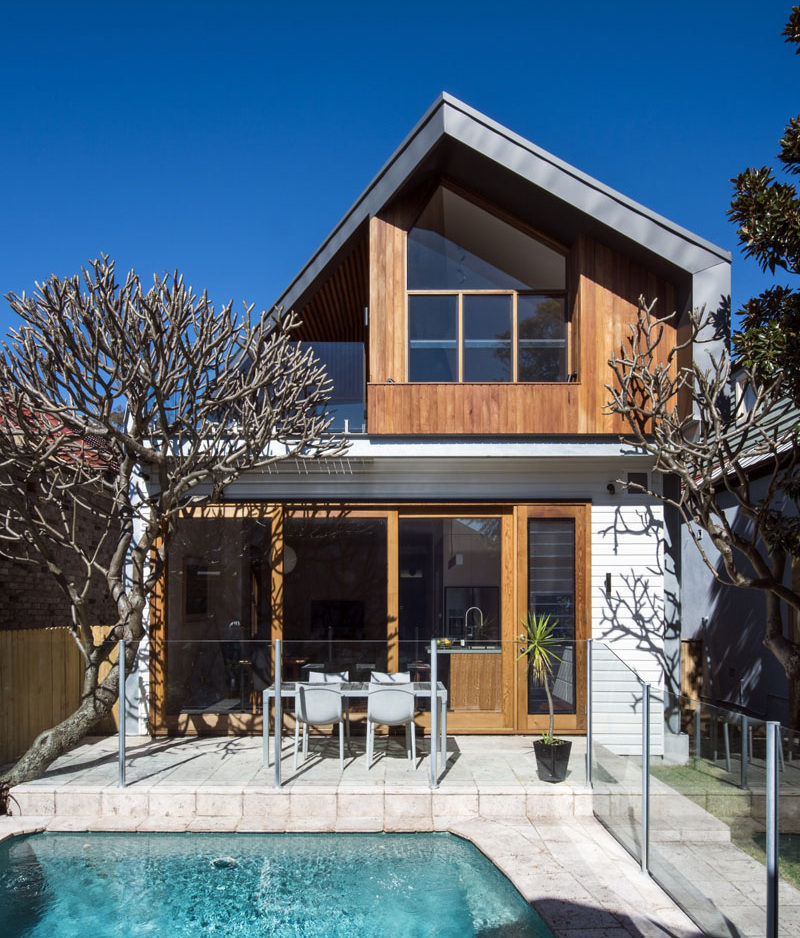 This Australian home received a contemporary extension.