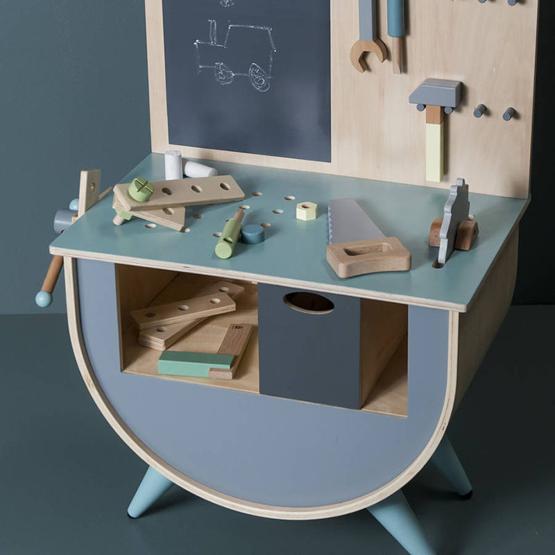 Gift Guide - 30+ Gift Ideas For The Modern Kid In Your Life // A small workbench is the perfect gift for the future carpenter.