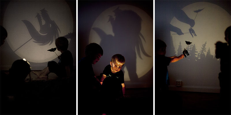 Designer Erik Bele Höglund, has created Darkness Design - a simple light that allows kids to play with shadows and are only limited by their imagination.