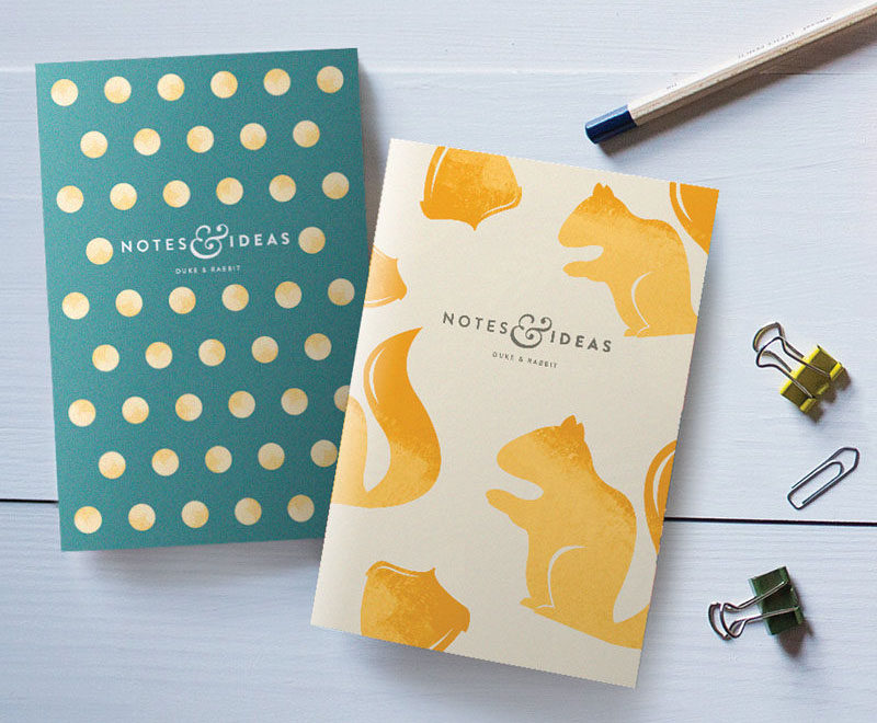 The Ultimate Gift Guide For The Modern Woman (40 Ideas!) // Include a touch of glam with this pair of blank pocket notebooks, so she always has paper on hand to write ideas and lists. #ModernStationery #ModernNotebook #GiftIdeas #ModernJournal
