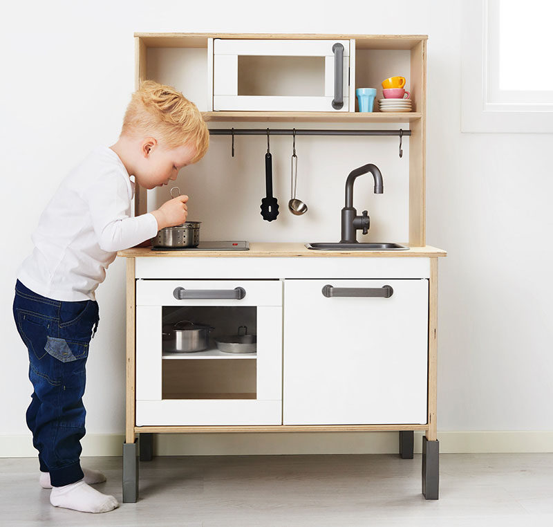 Gift Guide - 30+ Gift Ideas For The Modern Kid In Your Life // A small kitchen set like this one gives kids an opportunity to be just like the adults they see in the kitchen, and might even keep kids occupied long enough to make dinner prep easier.