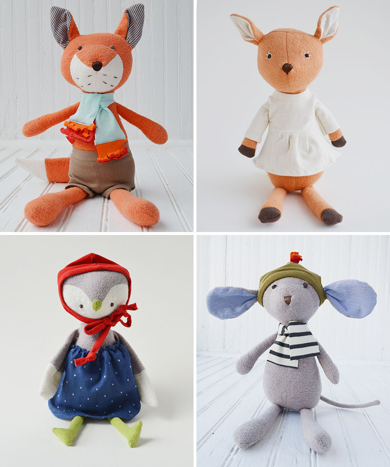 Gift Guide - 30+ Gift Ideas For The Modern Kid In Your Life // Modern Woodland Stuffed Toys