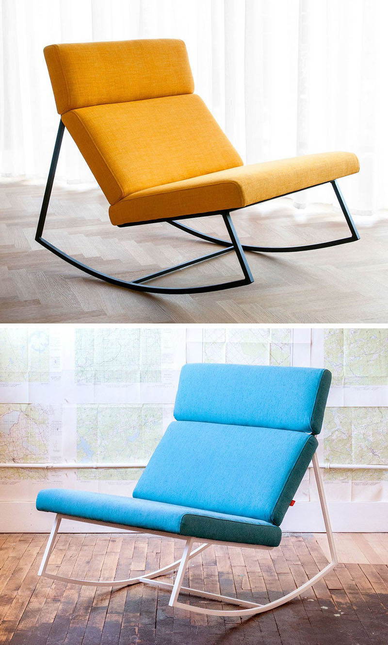Furniture Ideas - 14 Awesome Modern Rocking Chair Designs // These rocking chairs come in fun colors to create more modern look to fit into any contemporary home.