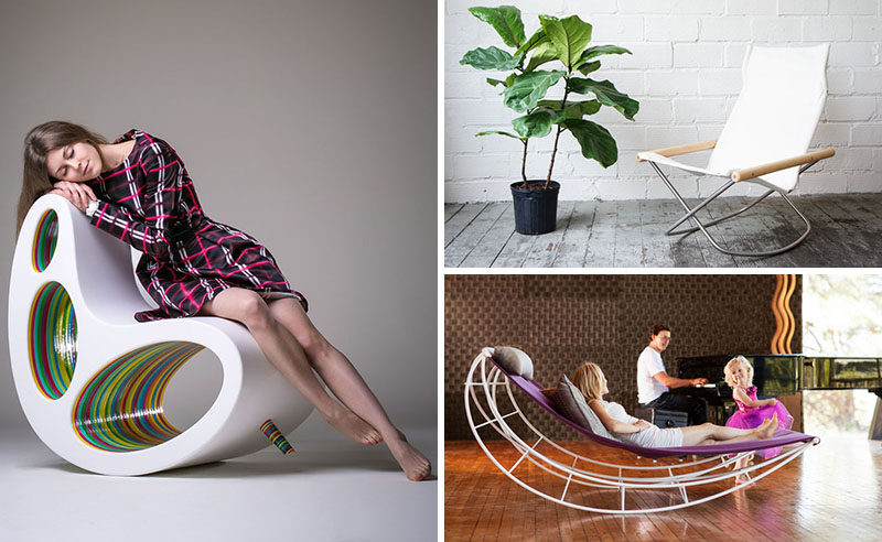 Rocking chairs can be so much more than old fashioned and intricately carved chairs. Here are 14 examples of modern rocking chairs with unique designs. #ModernRockingChair #RockingChair #SeatingDesign #FurnitureDesign