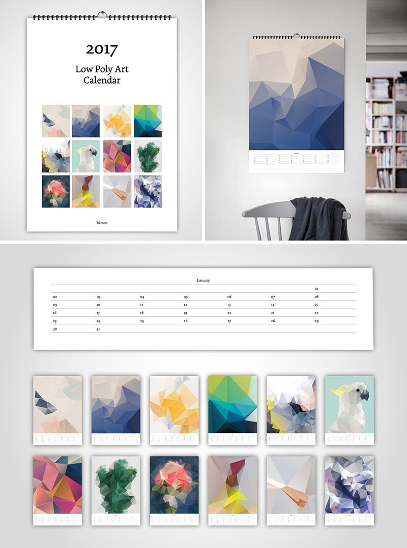 Wall Calendar Graphic Design : Modern wall calendars to get you organized for