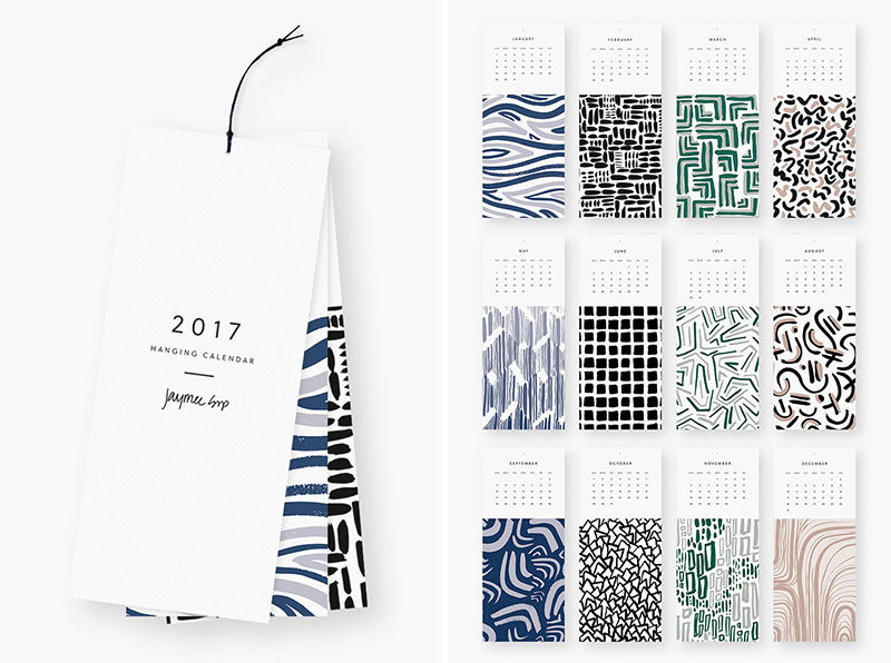 13 Modern Wall Calendars To Get You Organized For 2017 CONTEMPORIST