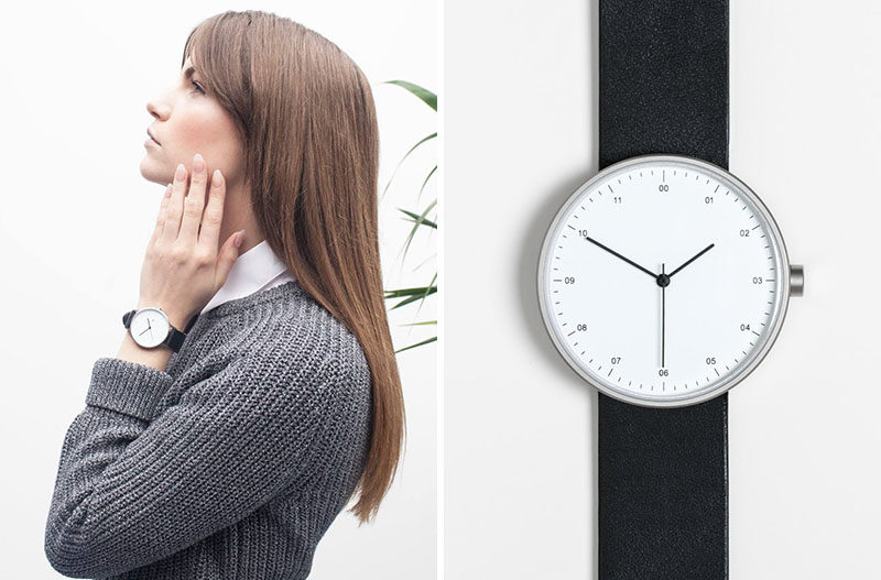 The Ultimate Gift Guide For The Modern Woman (40 Ideas!) // This traditional watch with a contemporary spin has a large face and a simple band to put the focus on the time and create a simple and stylish functional accessory. #ModernWatch #WomensWatch #ModernWomensWatch #GiftIdeas