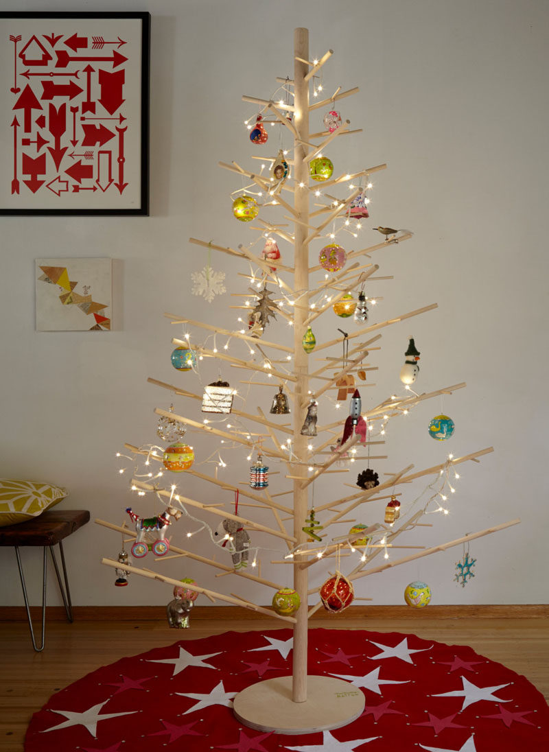 12 modern christmas trees you can decorate with this holiday season - Wooden Christmas Tree