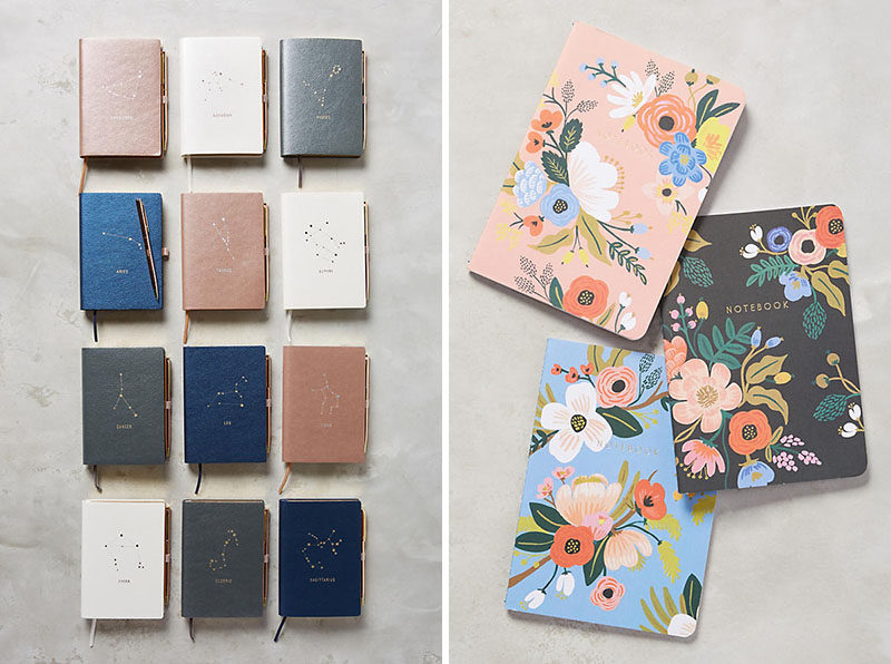 The Ultimate Gift Guide For The Modern Woman (40 Ideas!) // If a smart notebook just seems too much, a good old regular notebook is just as useful. #ModernStationery #ModernNotebook #GiftIdeas #ModernJournal