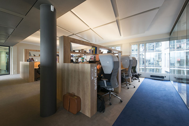 This Office Design Has A Dedicated Quiet Work Area