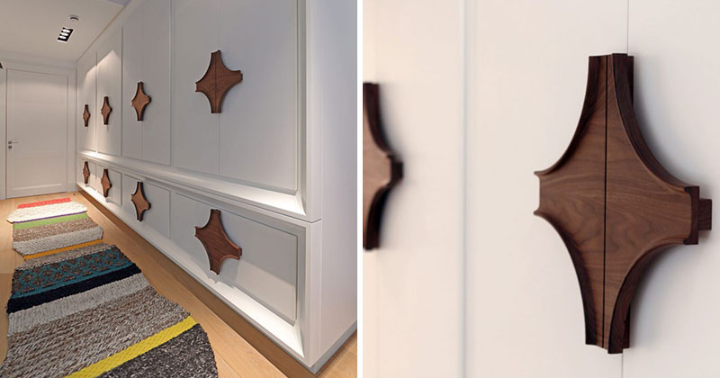 Interior Design Idea - Oversized Cabinet Hardware Creates A Bold ...