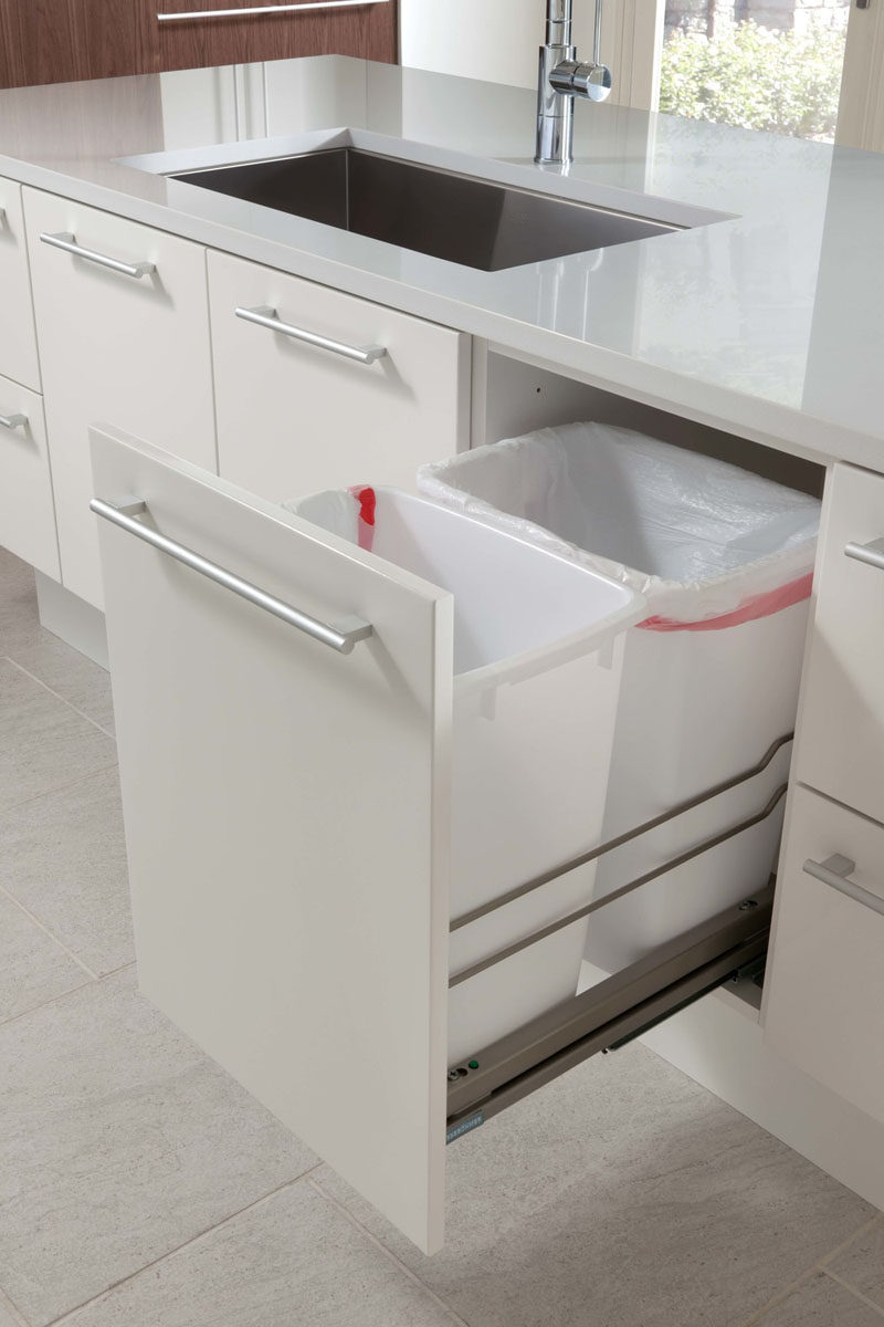 Kitchen Design Idea   Hide Pull Out Trash Bins In Your Cabinetry // These  Trash
