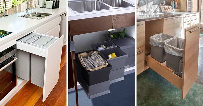 Kitchen Design Idea ? Hide Pull Out Trash Bins In Your Cabinetry