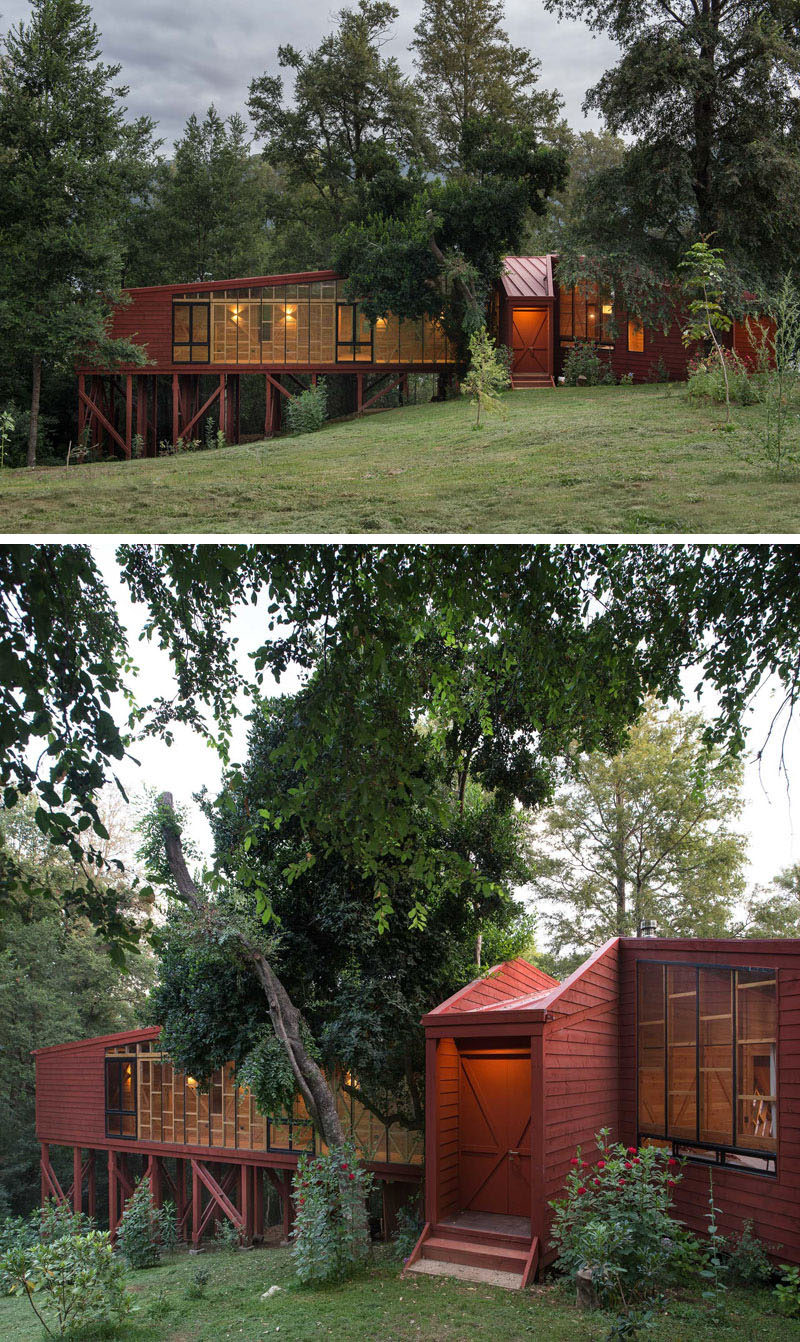 The home was designed so that it would receive as much sunlight during the day as possible.