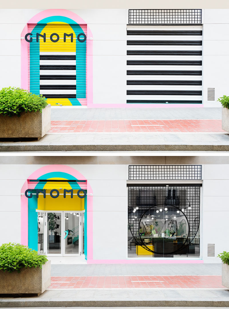 These Brightly Colored Retail Shutters Look Just as Good Closed As They Do When They're Open