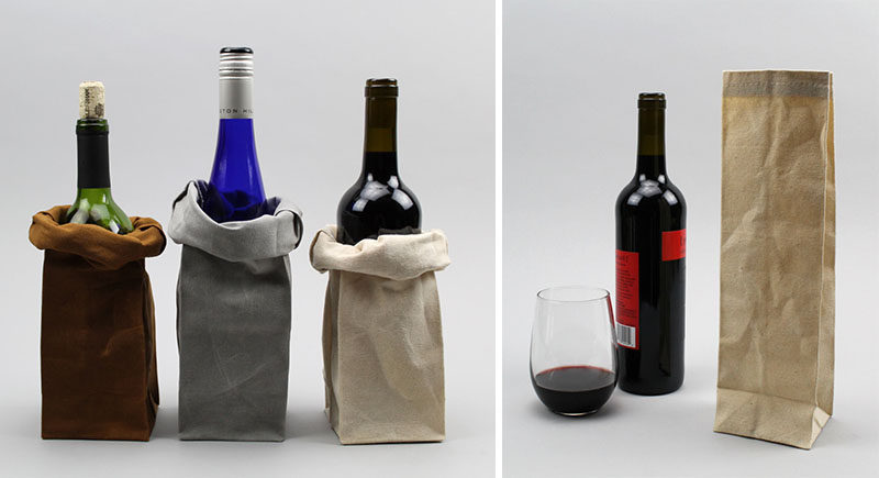 15 Host(ess) Gifts To Make You The Favorite Guest // When in doubt, bring wine. Slip a bottle into one of these waxed canvas wine totes and you'll hand over a sophisticated and stylish hostess gift.