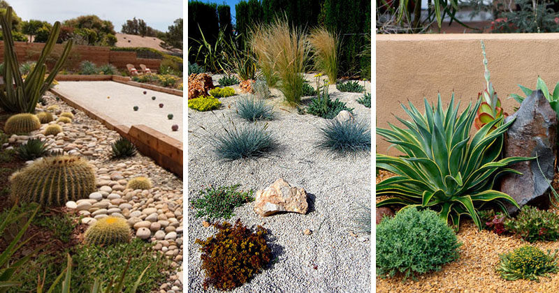Rock gardens are great for when you have water restrictions or don't want to spend too much time on your garden. Here's 11 examples to get you inspired. #RockGarden #GardenIdeas #ModernGarden #Landscaping #GardenDesign