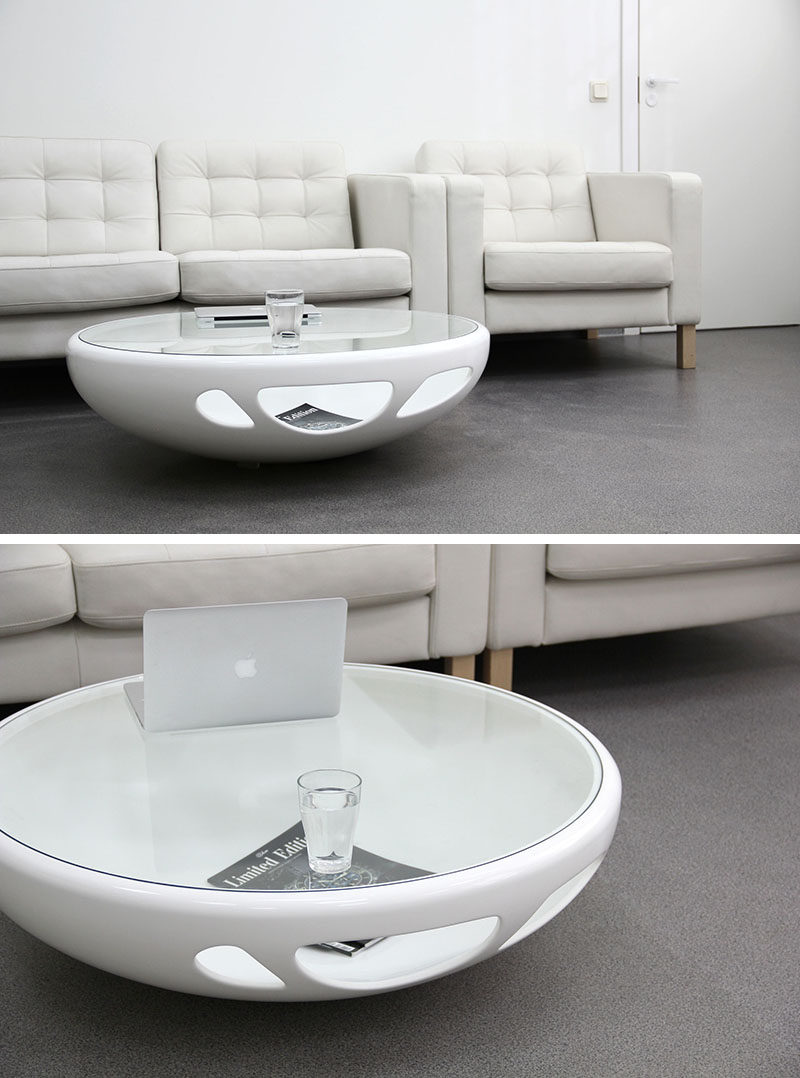 Stunning Furniture Ideas Round Coffee Tables Made From Glass