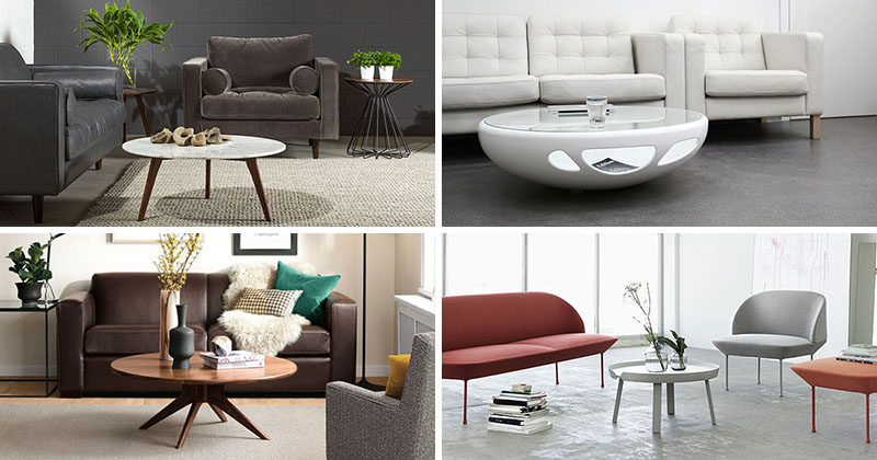 Simple Furniture Ideas Round Coffee Tables In Glass Wood Marble and Metal
