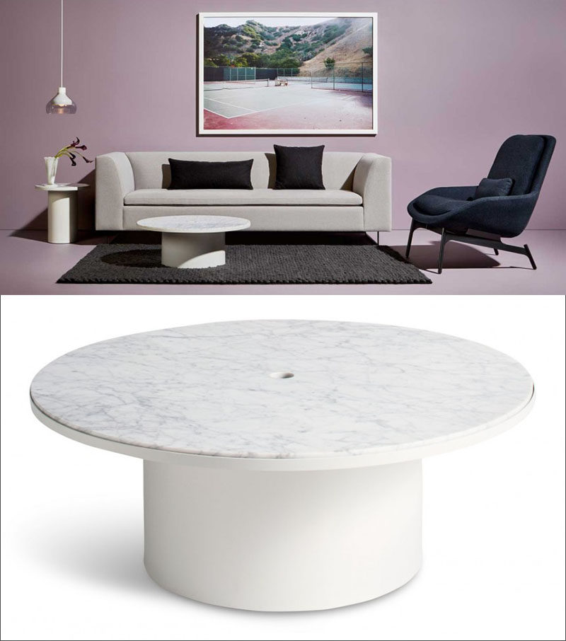 furniture ideas - round coffee tables in glass, wood, marble and