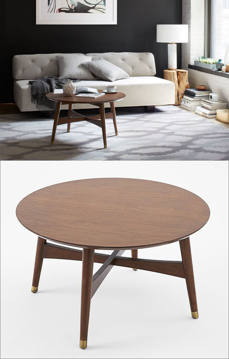 Inspirational Furniture Ideas Round Coffee Tables Made From Wood