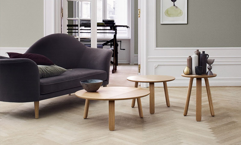 Marvelous Furniture Ideas Round Coffee Tables Made From Wood