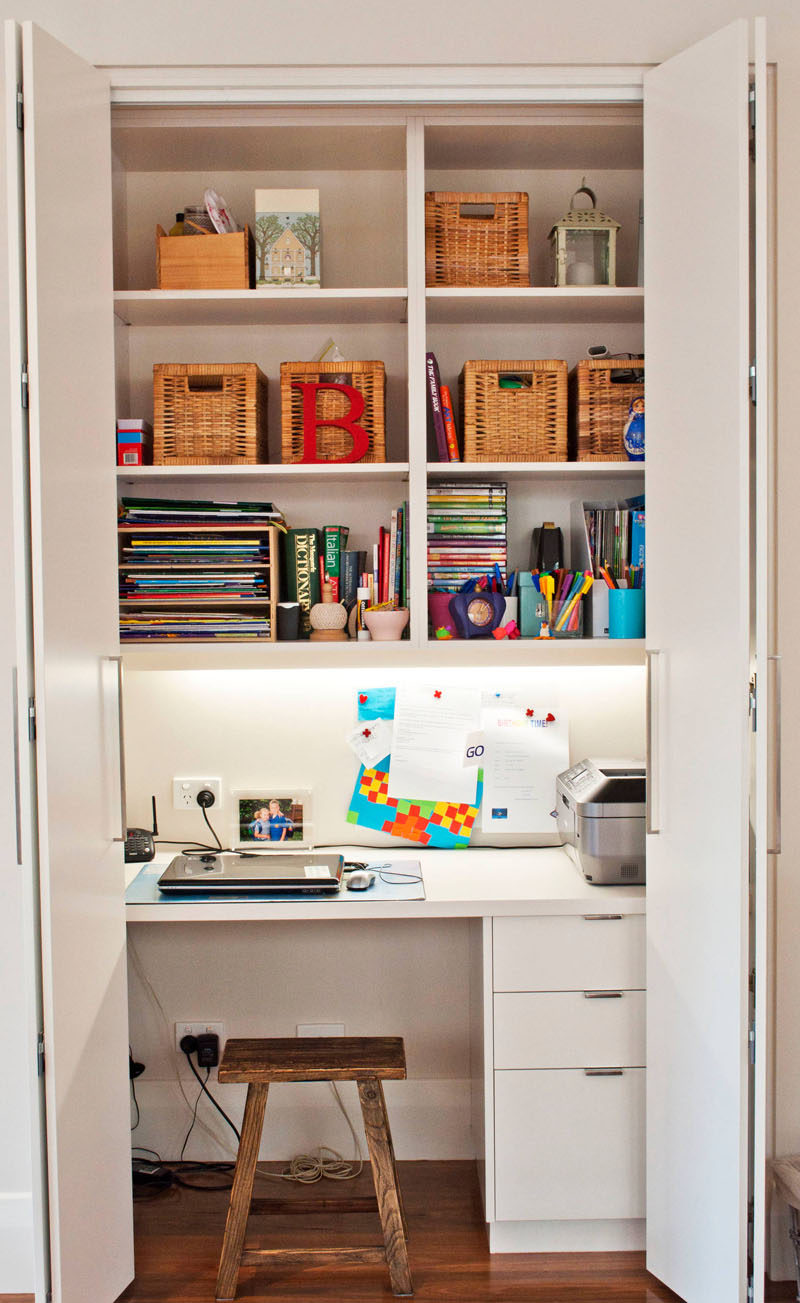Pleasant Small Apartment Design Idea Create A Home Office In A Closet Largest Home Design Picture Inspirations Pitcheantrous