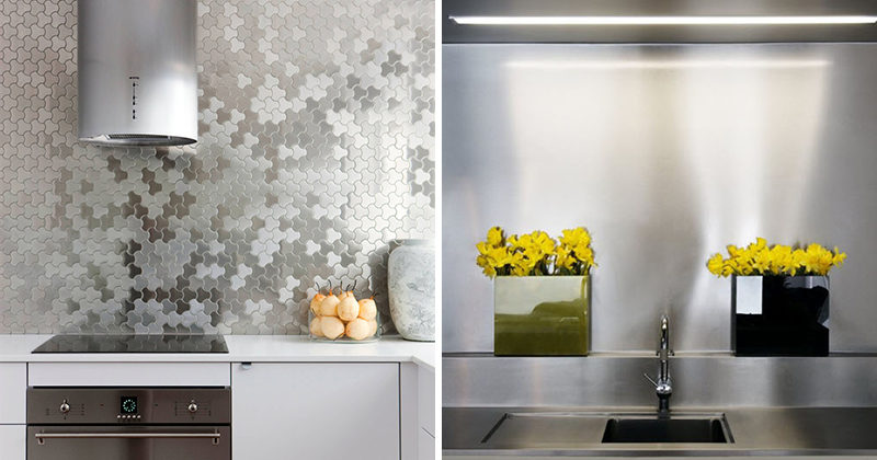 Kitchen Design Idea Install A Stainless Steel Backsplash For Sleek Look 17 Photos