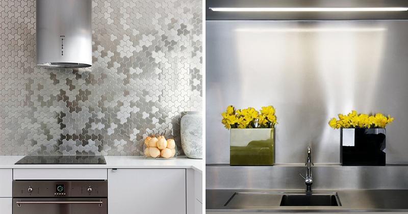 kitchen design idea install a stainless steel backsplash for a sleek