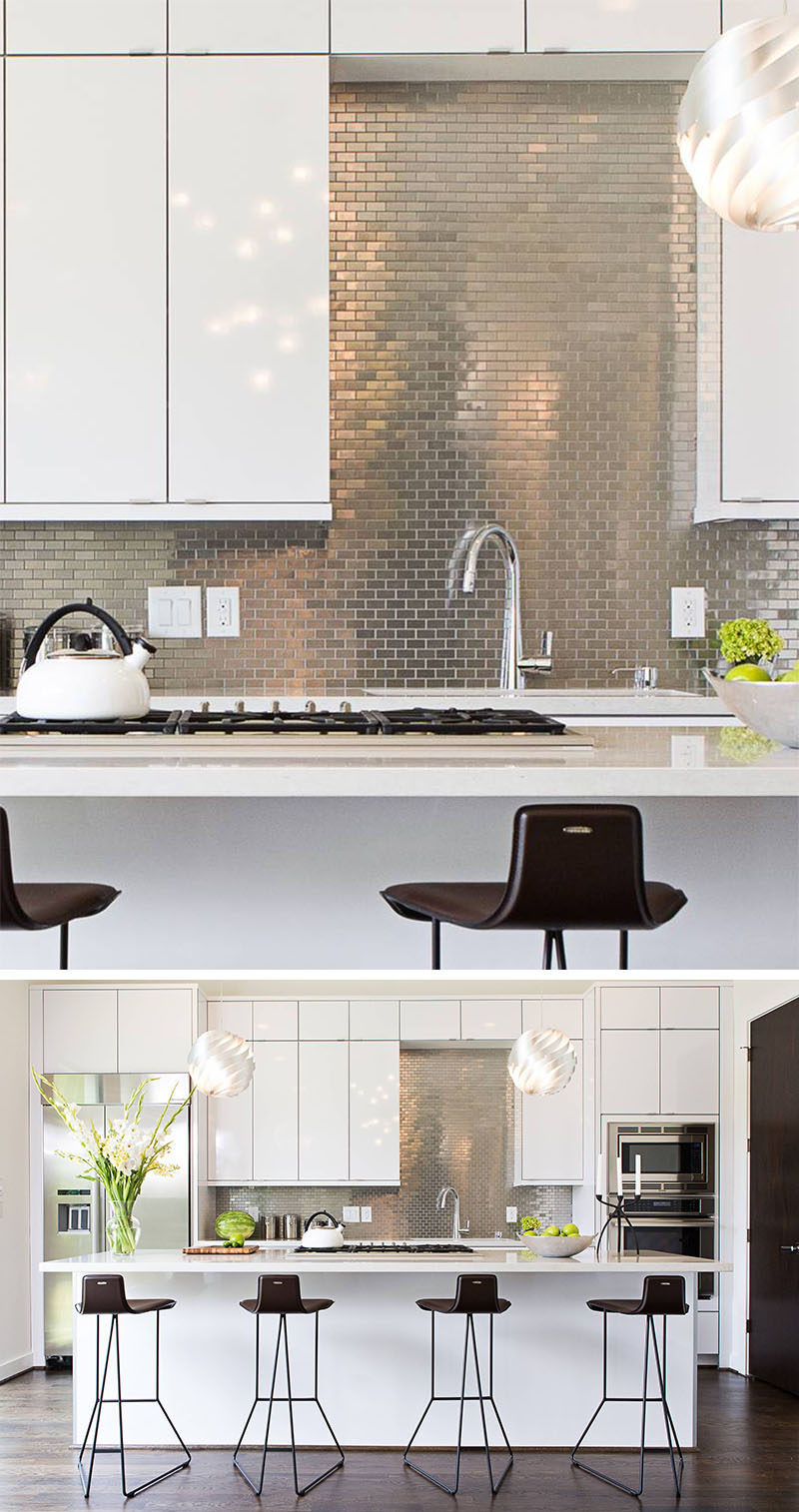 stainless steel kitchen backsplash panels kitchen design idea install a stainless steel backsplash for a sleek look contemporist 5319