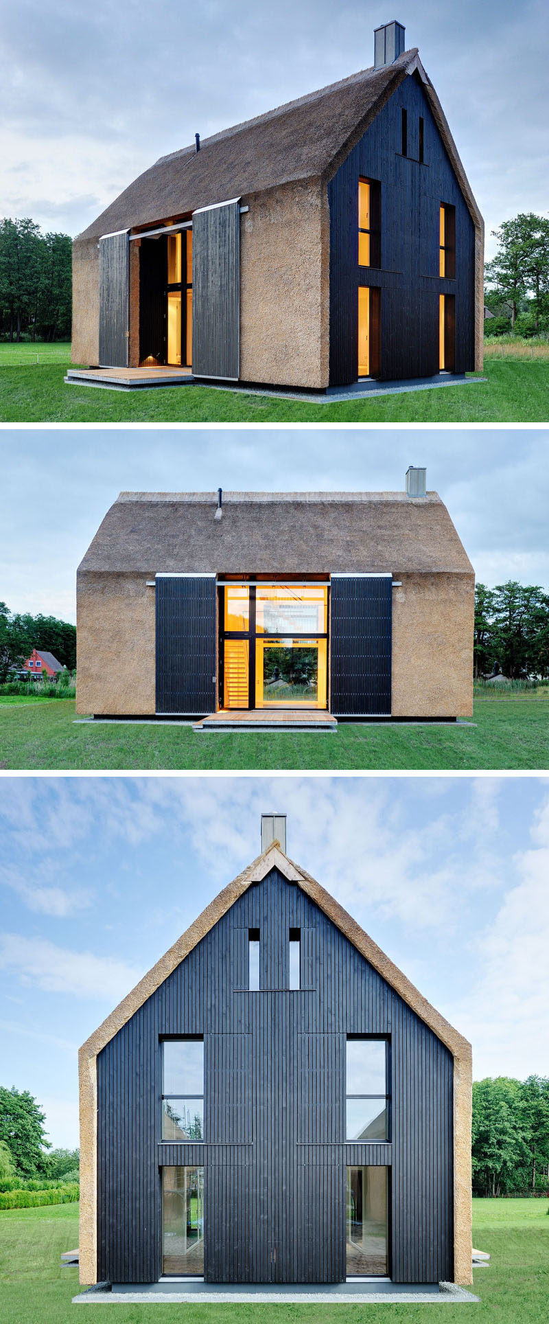 12 examples of modern houses and buildings that have a for Traditional and modern houses