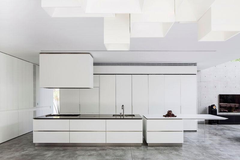 Kitchen Design Idea - White, Modern and Minimalist Cabinets