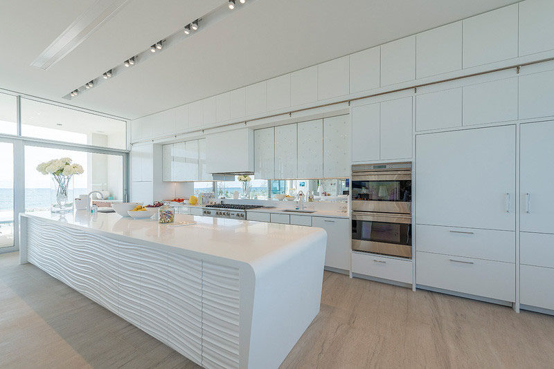 Kitchen Design Idea White Modern And Minimalist Cabinets Contemporist  Cleaning Inside Kitchen Cabinets
